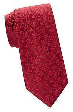 Charvet Men's Sanded Mushroom Silk Tie