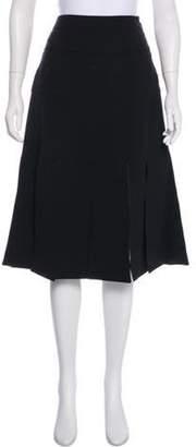 Prabal Gurung Knee-Length Fringed Skirt w/ Tags Black Knee-Length Fringed Skirt w/ Tags
