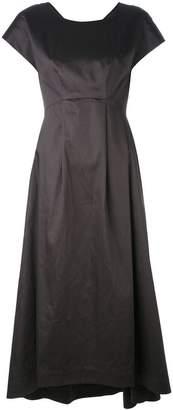 Jil Sander Navy pleat detail flared dress