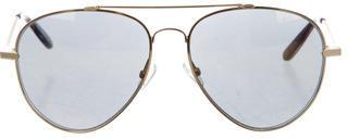 Bottega VenetaBottega Veneta Reflective Aviator Sunglasses