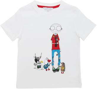 Little Marc Jacobs Rock Band Printed Cotton Jersey T-Shirt