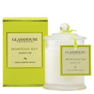 Montego Glasshouse Bay Mini Candle - Coconut Lime 60g