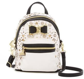 Betsey Johnson Laser Cut Backpack Crossbody $78 thestylecure.com