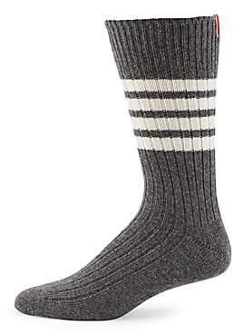 Thom Browne Men's Mid-Calf Chunky Ribbed Socks