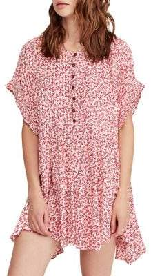 Free People One Fine Day Floral Mini Dress