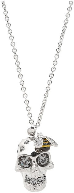 Alexander McQueen Skull Cocktail Pendant (Silver) - Jewelry
