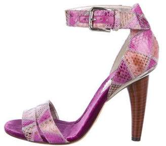 Dolce & Gabbana Snakeskin Ankle-Strap Sandals