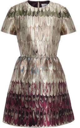 Valentino Metallic Brocade Mini Dress