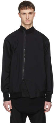 Julius Black Nylon Straps Coat