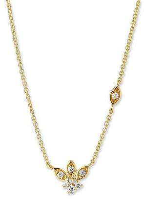 Sydney Evan 14k Gold Diamond Marquise Petal Pendant Necklace