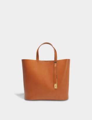 Sophie Hulme The Exchange E/W Bag in Tan Cowhide
