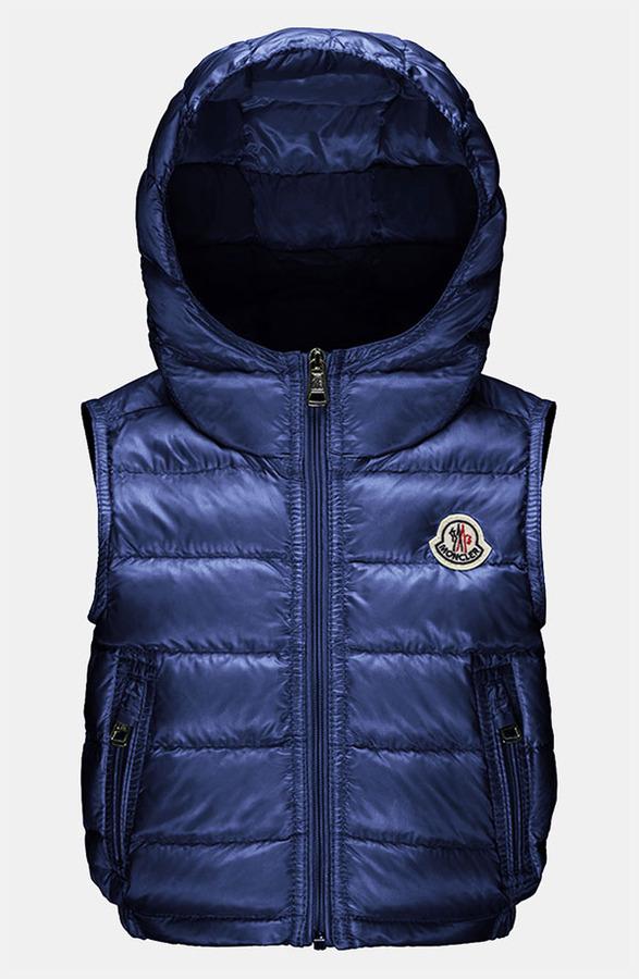 Moncler 'Patrick' Hooded Vest (Baby)