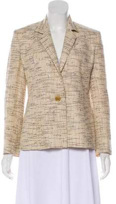 Celine Tweed Wool & Linen-Blend Blazer
