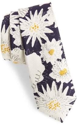 Burberry Floral Silk Skinny Tie
