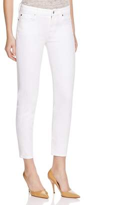 7 For All Mankind Jeans - Kimmie Crop in Clean White $168 thestylecure.com