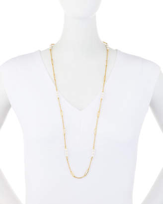 """Majorica Modern Metal Pearly Chain Necklace, 36"""""""