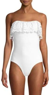 Pilyq One-Piece Lace Flutter Swimsuit