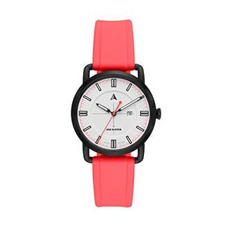 Eleven Paris One Women's SW1 Solar Quartz Stainless Steel and Silicone Casual Watch