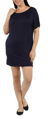 24/7 Comfort Apparel Women's Plus Women's T-shirt Dress