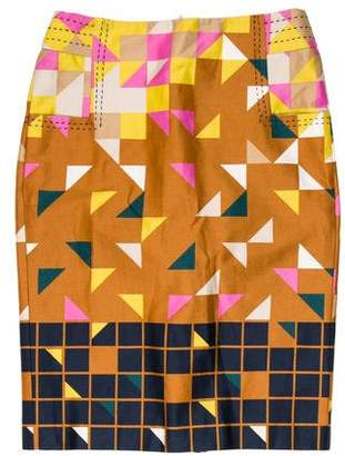 Tory Burch Printed Pencil Skirt