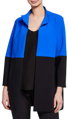 Chiara Boni Morwen Colorblock 3/4-Sleeve Jacket