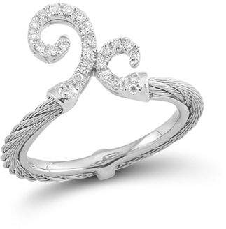 Alor Diamond Gray Cable Ring