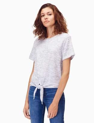 Calvin Klein striped tie front short sleeve t-shirt