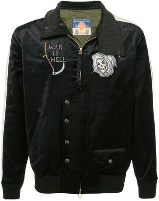 Blackmeans Black Means embroidered bomber jacket