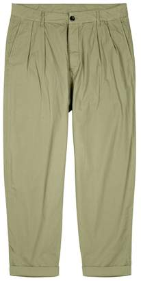 Albam Parachute Cropped Cotton Trousers