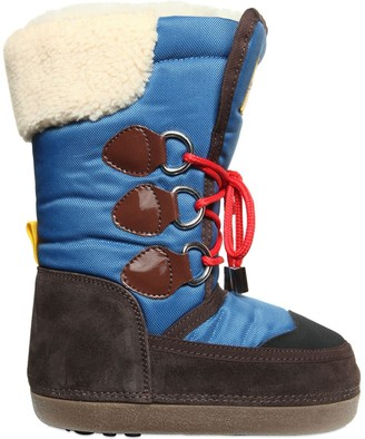DSQUARED2 NYLON & SUEDE BOOTS