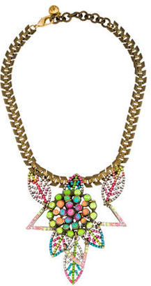 Lulu Frost Crystal Leaf Necklace $125 thestylecure.com