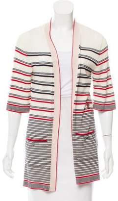 Chanel Striped Wool Cardigan red Striped Wool Cardigan