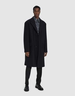Dries Van Noten Classic Wool Coat in Navy