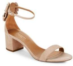 Aquazzura Siena Suede Bow Block-Heel Sandals