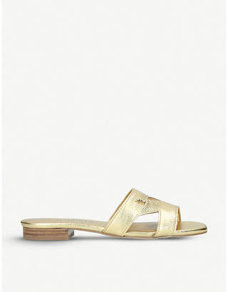 Kurt Geiger London Odina cut-out metallic leather sandals