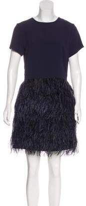 Club Monaco Ostrich Feather-Accented Dress w/ Tags