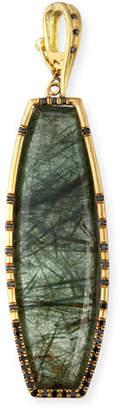 Dominique Cohen 18k Actinolite & Black Diamond Enhancer