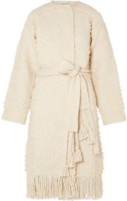 Ulla Johnson Amara Belted Cotton Bouclé-tweed Coat - Cream