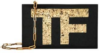 Tom Ford Plexi Glitter Logo Clutch