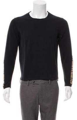 Burberry Nova Check-Accented Crew Neck Sweater