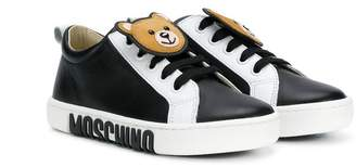 Moschino Kids bear lace-up sneakers