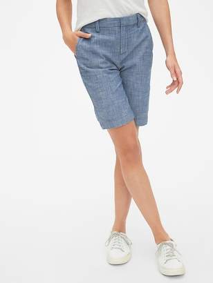 "Gap 10"" Bermuda Shorts in Stretch Chambray"