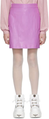 Gucci Purple Leather Miniskirt