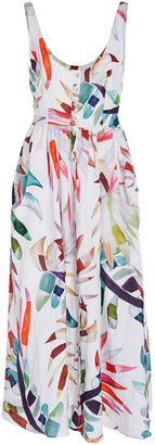 Mara Hoffman Button Front Printed Midi Dress $395 thestylecure.com