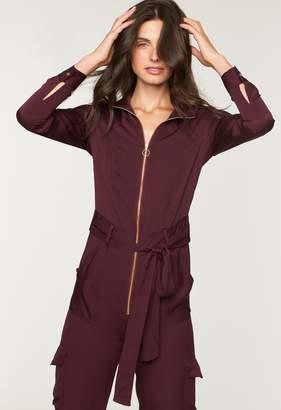 Milly Stretch Silk Utility Jumpsuit