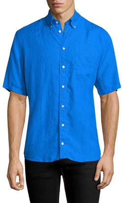 Eton Linen Short Sleeve Sport Shirt