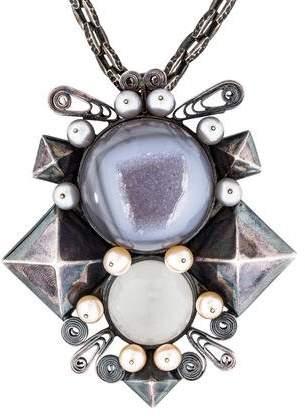 Bottega VenetaBottega Veneta Druzy Pendant Necklace