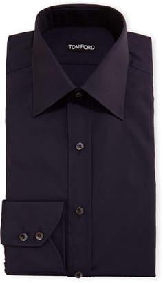 Tom Ford Slim-Fit Classic-Collar Dress Shirt, Navy