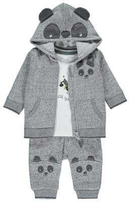 George Panda Hoodie, Top and Bottoms Outfit