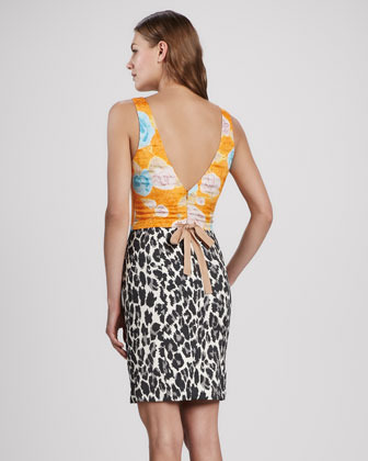 Tracy Reese Mixed-Print Combo Dress